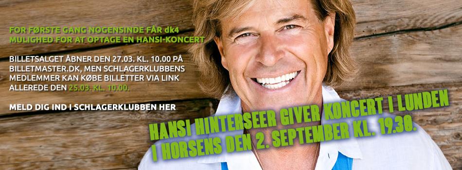 Hansi Hinterseer giver koncert i Lunden